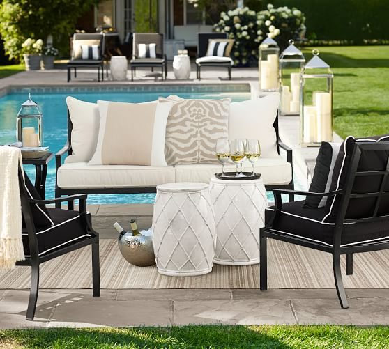 Riviera 26 5 Metal Lounge Chair, Pottery Barn Deck Furniture