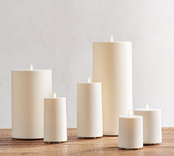 Premium Flickering Flameless Outdoor, Outdoor Flameless Candles With Remote
