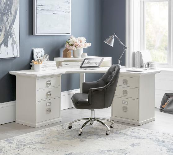 Bedford Corner Desk With Drawers, Office Corner Desk Units