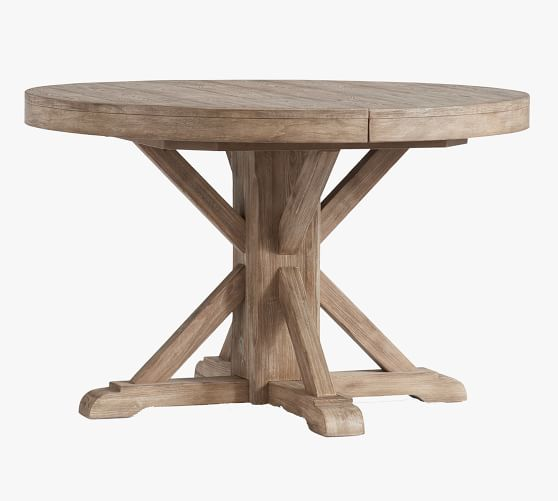 Benchwright Round Pedestal Extending, Round Pedestal Extending Dining Table