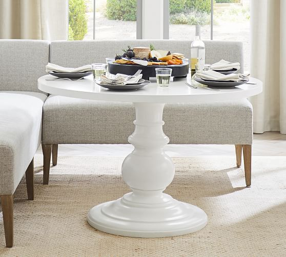 Dawson Round Pedestal Dining Table, Pottery Barn Tables Round