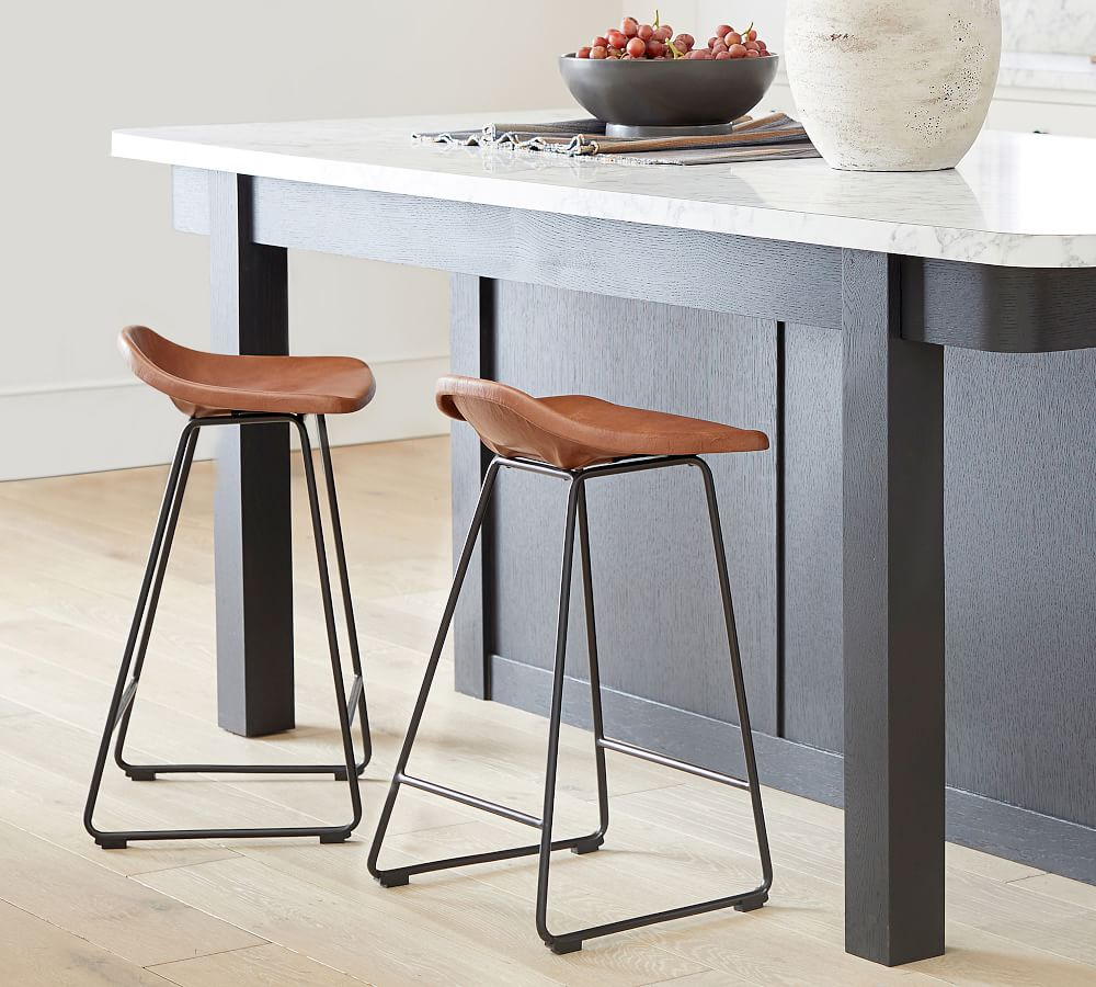 Brenner Leather Bar & Counter Stool