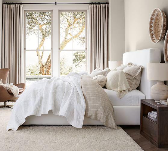 Big Sur Upholstered Platform Bed, Platform Fabric Queen Bed