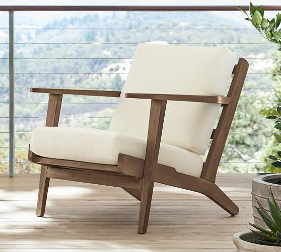 Raylan Fsc Teak Outdoor Lounge Chair, Pottery Barn Outdoor Furniture Showroom