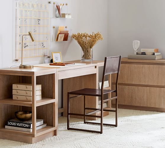 Desk With Bookcases Pottery Barn, Pottery Barn Office Furniture
