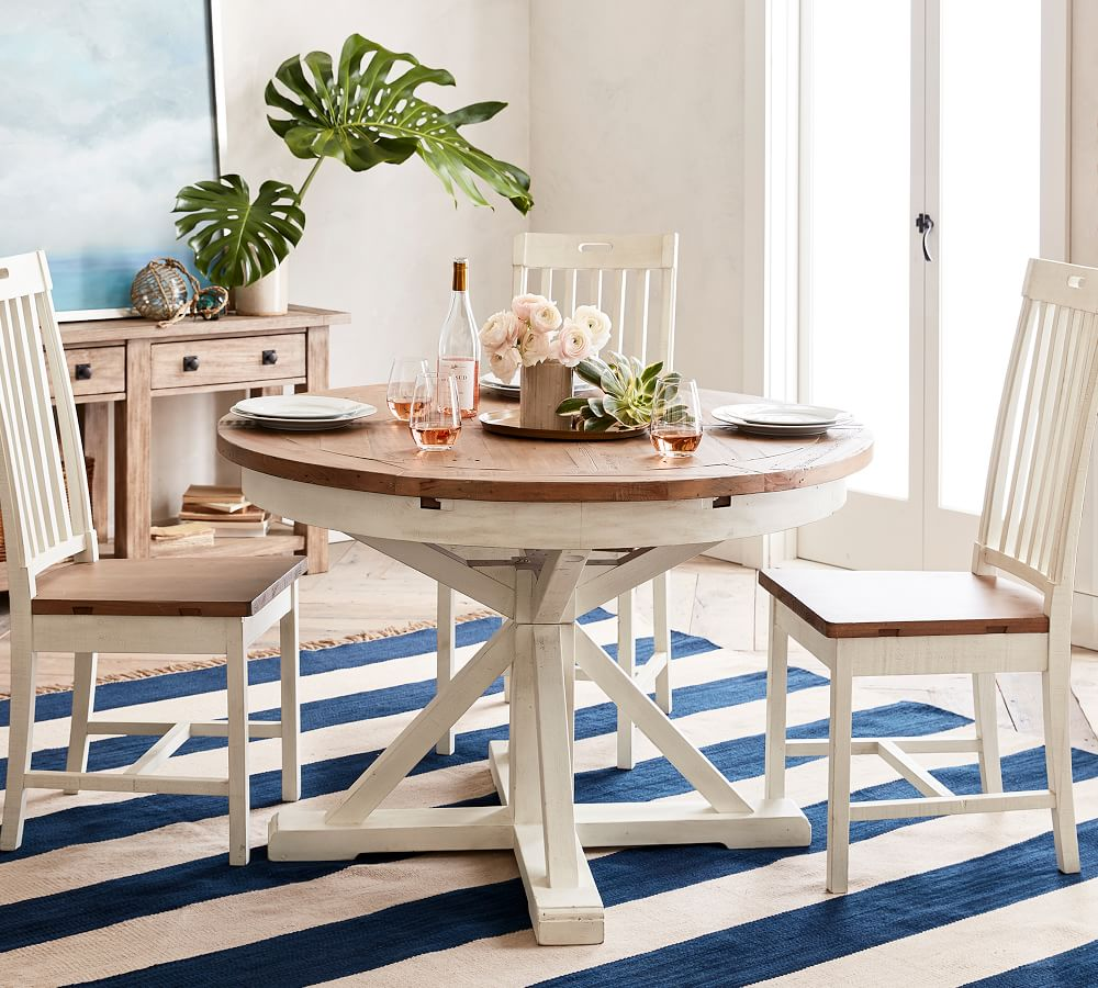 Hart Round Reclaimed Wood Pedestal, 72 Inch Round Dining Table Reclaimed Wood