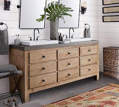 Mason 72 Double Sink Vanity Pottery Barn, Pictures Of Bathroom Sinks And Vanities