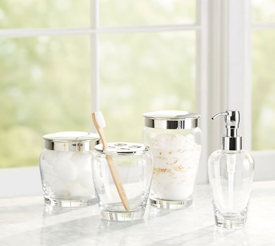 Ultimate Bath Accessories Clear Glass, Clear Bathroom Accessories
