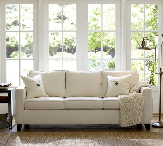 Cameron Square Arm Upholstered Deluxe, Pottery Barn Sleeper Sofas