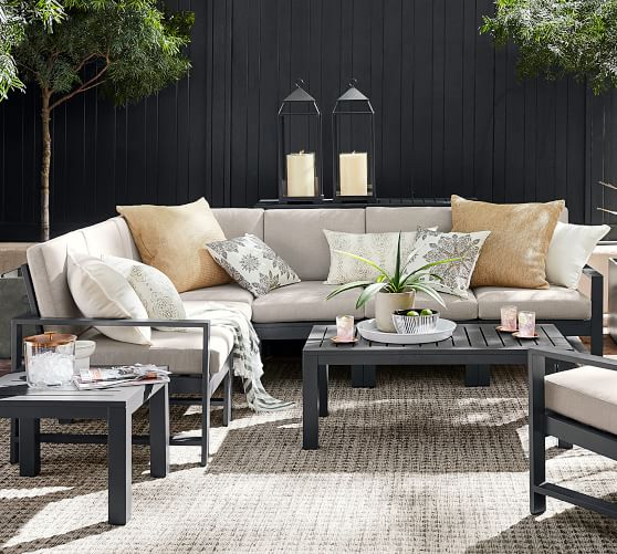 Indio Metal Outdoor Sectional, Pottery Barn Rattan Furniture
