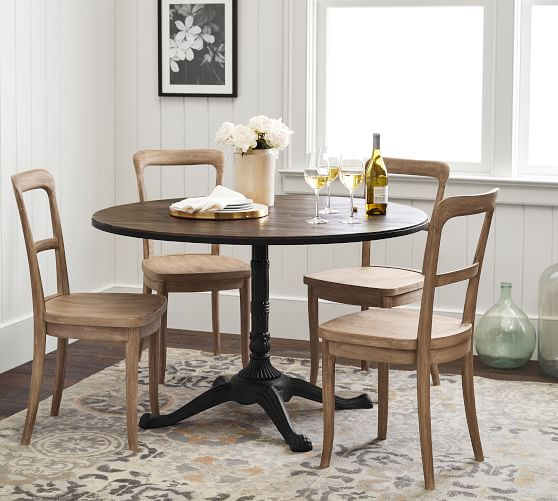 Rae Round Pedestal Bistro Dining Table, Pottery Barn Tables Round