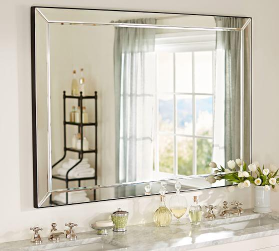 Astor Double Wide Rectangular Mirror, Double Wide Bathroom Mirror