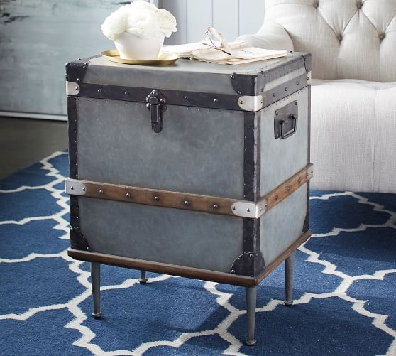 Kirkwood 19 Trunk End Table Pottery Barn, Storage Trunk Table