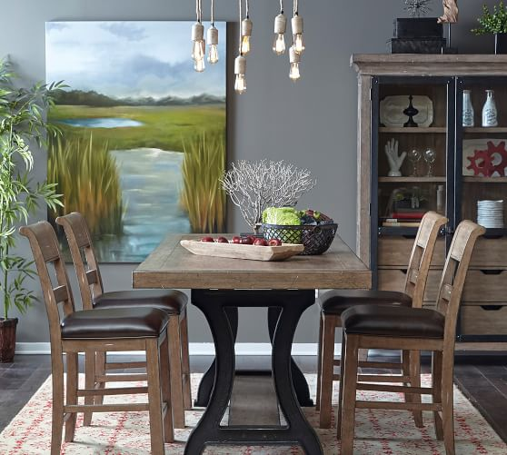 Lucy Bar Height Dining Table Pottery Barn, Bar Height Dining Room Table