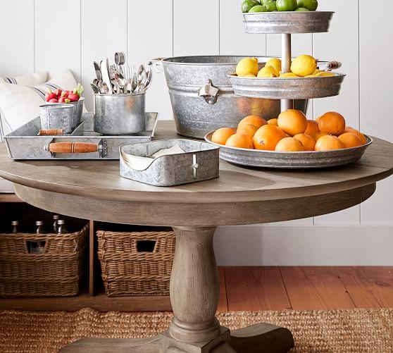 Owen Round Pedestal Extending Dining, Round Pedestal Extending Dining Table
