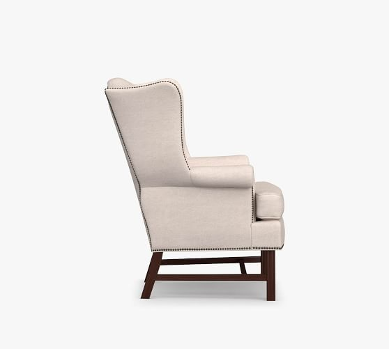 Thatcher Upholstered Wingback Chair, High Back Upholstered Chairs With Arms