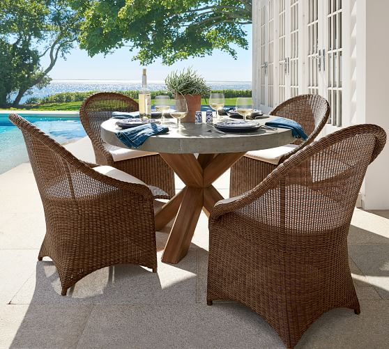Palmetto Indoor Outdoor All Weather, Wicker Dining Room Chairs Indoor
