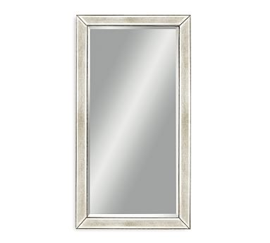 Beveled Glass Beaded Rectangular Wall, How To Hang A Large Beveled Mirror