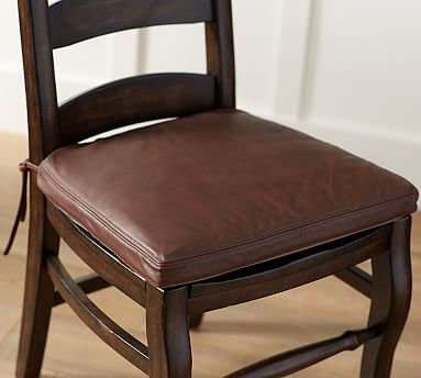 Classic Leather Dining Chair Cushion, Dining Room Chair Pads
