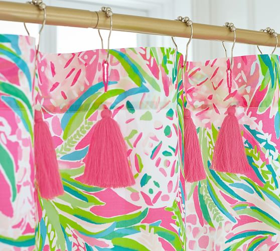 Lilly Pulitzer Alotta Colada Percale, Lilly Pulitzer Inspired Curtains