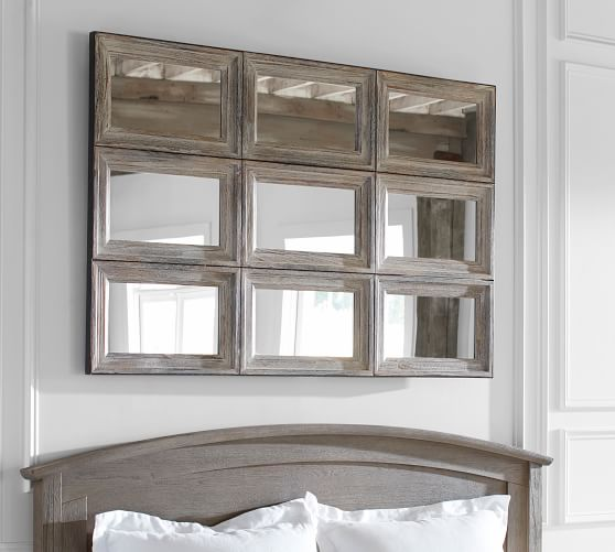 Aiden Extra Large Paneled Wall Mirror, Extra Large Wall Mounted Swivel Mirror