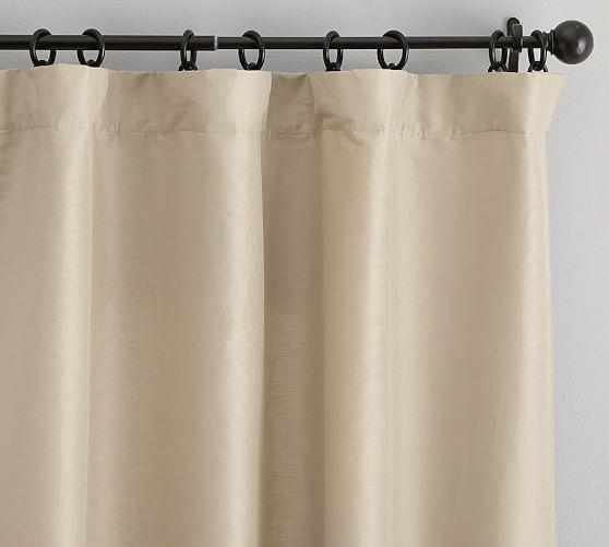 Dupioni Silk Blackout Curtain 50 X 108, Silk Dupioni Curtains Pottery Barn