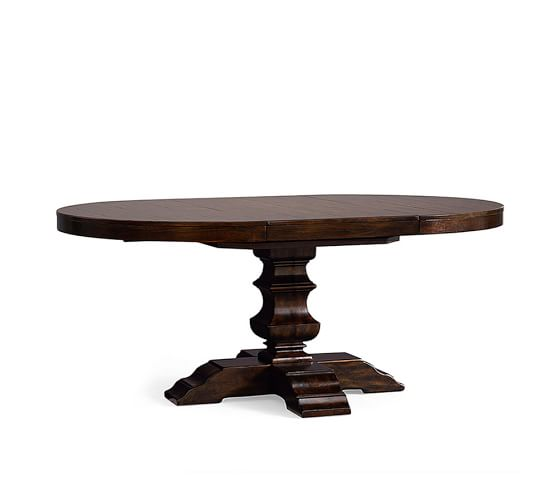 Banks Round Pedestal Extending Dining, 48 Round Pedestal Table With Leaf