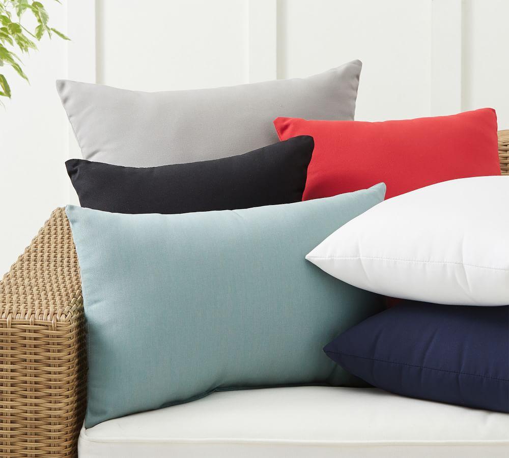 Sunbrella® Solid Indoor/Outdoor Pillows   Pottery Barn