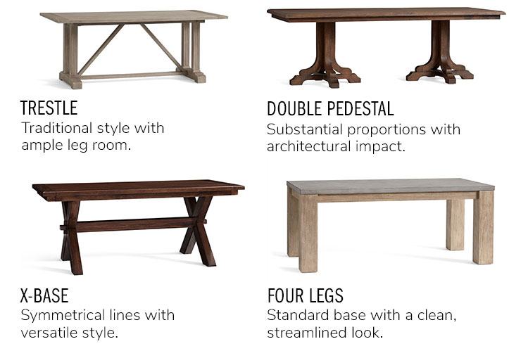 Table Legs Seating Pottery Barn